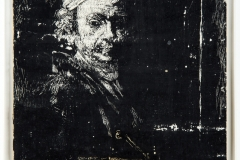 Paul Russotto - Copia di Rembrandt all'età di 58 anni, 1960 - Inchiostro, cm 18x15